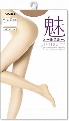 ATSUGI ASTIGU Pantyhose Stockings Tights 魅 All Through S-LL Made in Japan F/S