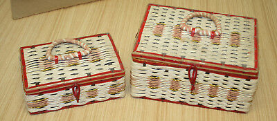 Vintage Sewing Baskets x2