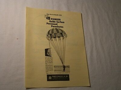 Old 1950S Pioneer Parachutes - Aerojet General Tire Ad Advertisement