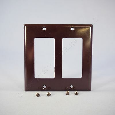 Eagle Brown Decorator Standard 2-Gang Thermoset Wallplate GFCI GFI Cover 2152B