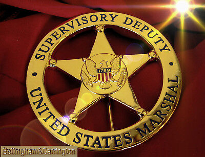 gy/ Historisch police badge + Supervisory Deputy Marshal, choose gold or silver