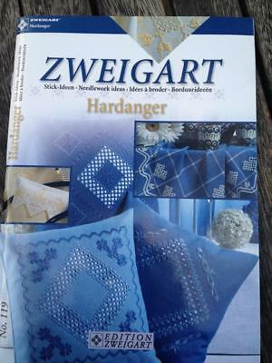 Zweigart Hardanger Needlework Ideas No. 119 Embroidery Patterns English German