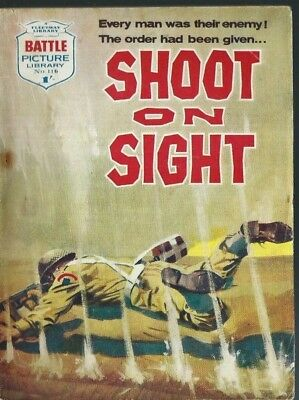 Shoot On Site,battle Picture Library,no.116,war Comic,1963
