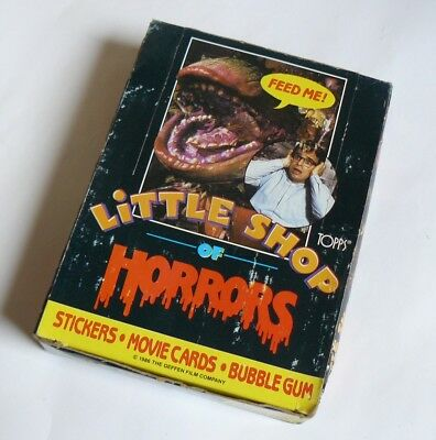 LITTLE SHOP OF HORRORS complete box - 36 pochettes - TOPPS - USA - 1986