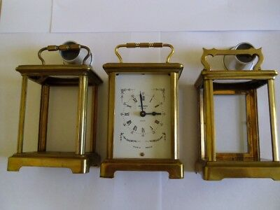 3 Carriage Clock Cases,as Found.