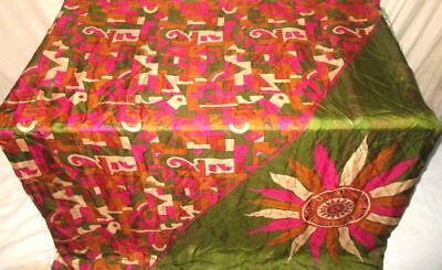 Multi-color Pure Silk 4 yard Vintage Sari Saree SALE DEAL BARGAIN Italy #9B6Q0