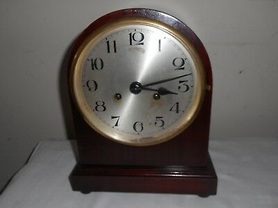 Large Antique Dome Top Mantle Clock in Good Condition and Working Order,With Key