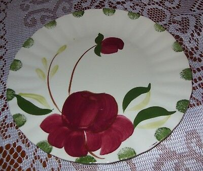 Blue Ridge Southern Pottery Potteries Allegro Hand Painted Dinner Plate-EXC