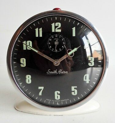 Rare Old Mid-Century Smiths Alarm Clock - Made In Great Britain - Superb Piece