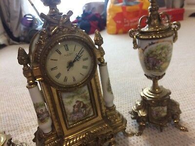 Stylish Old Fashioned Religious clock and Extras Real Brass