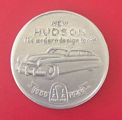 1949 HUDSON MOTOR CAR 40th Year Adv. Promotional Token or Coin