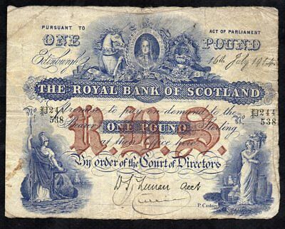1 Pound From Scotland 1914