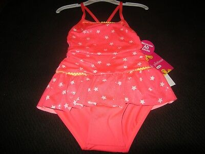 New Girls Pink & White Pink Platinum Bathing Suit, Size 4