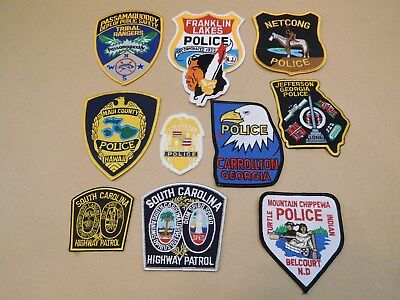 Lot of 10 Misc Law Enforcement Patches Police Ranger Highway Patrol Tribal