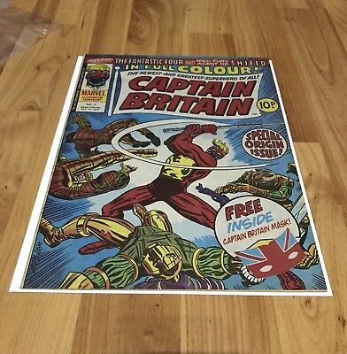 Captain Britain Weekly. Issue 1. 1976. Unused Mask. Fantastic Condition.