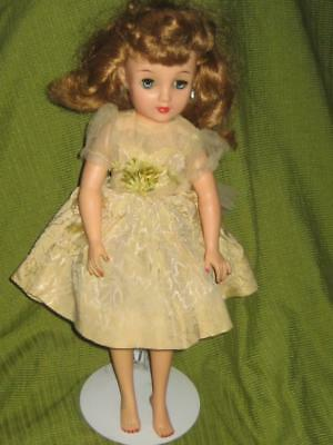 1950's Revlon Ideal Vt 18 Doll Rooted Dark Blonde Blue Eyes Tnt Jointed Dressed