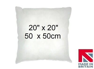 """4 Cushion Pads 20"""" x 20"""" Inners Fillers Scatters Hollowfibre Inserts FREE P & P"""