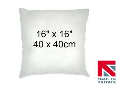 """4 Cushion Pads 16"""" x 16"""" Inners Fillers Scatters Hollowfibre Inserts FREE P & P"""