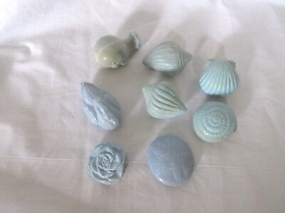 Set of 8 Pieces AVON Guest Hand Soaps Sea Shells, Whale, Swan & Rose