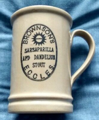 Stone Advertising Tankard * Sarsaparilla & Dandelion Stout * Herb / Root Beer