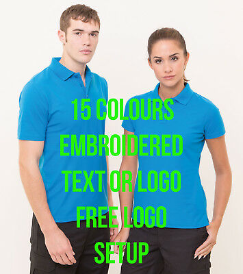 Personalised Logo Front Chest Custom Embroidered Polo Shirt RX101 Same as UC101