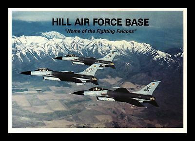 Dr Jim Stamps Us Fighting Falcons Hill Afb Military Planes Continental Postcard