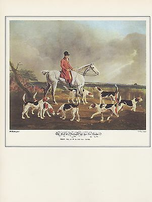 "1974 Vintage Fox Jagd "" Earl Of Darlington und Sein Hounds "" Kunst Lithographie"