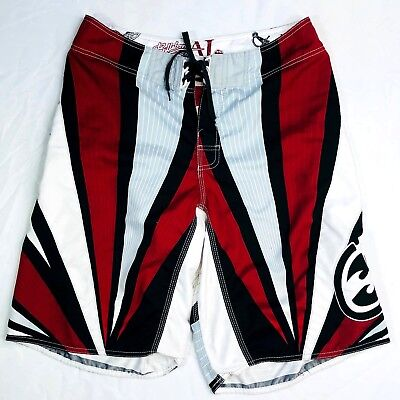 6b86996a22 BILLABONG AI SAMURAI Rising Sun Surf Board Shorts Andy Irons 34 ...