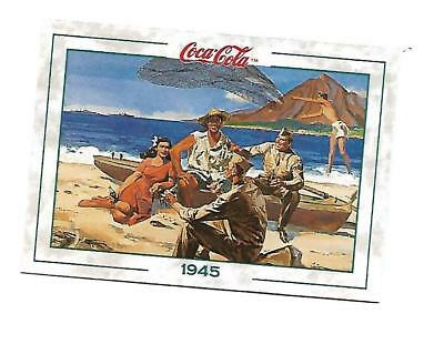 Coca Cola Collection Series 2 (1994) 1945 # 183 Island Beach GIs Soldiers