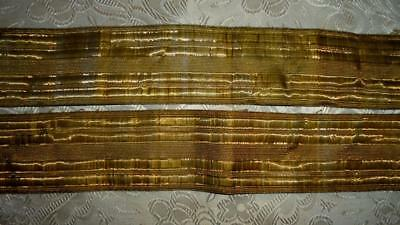 AUTUMN CLEAROUT: 2 PIECES 19th CENTURY FRENCH GOLD METAL TRIM PASSEMENTERIE 6.
