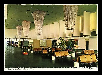 Dr Jim Stamps Manchester Airport Concourse Continental Size Postcard England