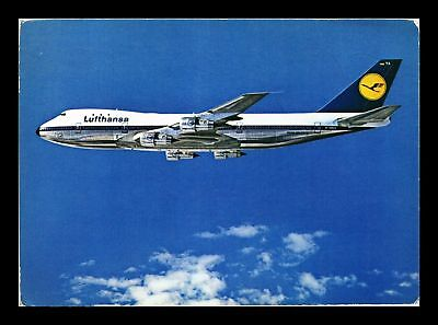 Dr Jim Stamps Us Lufthansa Boeing 747 Airplane Continental Postcard Athens