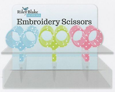 """Riley Blake Dot Embroidery Scissors #6744, Sewing & Quilting Thread, 3.5"""""""