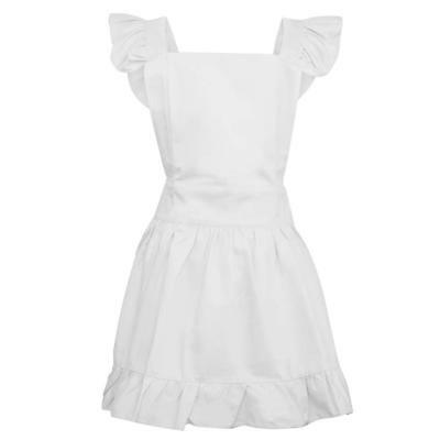 Aspire Cotton Retro Adjustable Ruffle Aprons with Pockets Kitchen Cooking Adu...