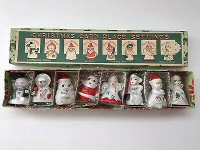 Vintage Christmas Card Place Holders Commodore Original