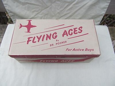 1930's - 1940's Empty Shoe Box / Dr. Posner FLYING ACES / Nice Condition