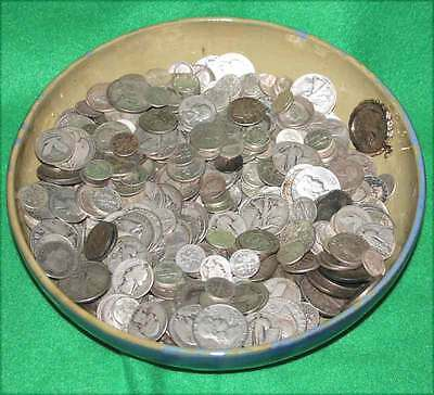 90% Silver Coins HALF POUND 8 Ounce Lot of USA Halves, Quarters, & Dimes bullion