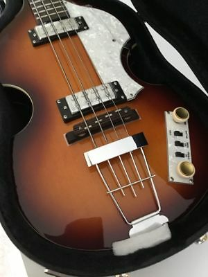 DELUXE HOFNER BEATLE IGNITION BASS GUITAR Flatwound Strings Teacup Knobs ~ Case