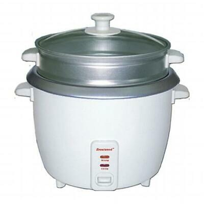 Brentwood TS-380S 10 Cup - 1.8 Liter - Rice Cooker with Steamer - White Body