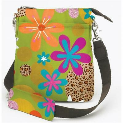 Joann Marrie Designs NUPGLF Urban Pouch Bag - Green Leopard Floral Pack of 2