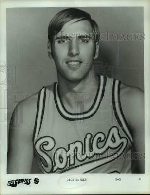 "1972 Press Photo Seattle Supersonics guard, 6'-5"" Dick Snyder. - hcs16199"