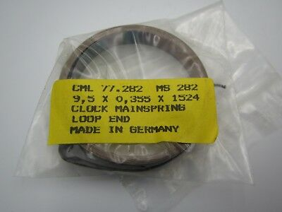 New Old Stock Clock Replacement Mainspring Main Spring 905 x 0.355 x 1524