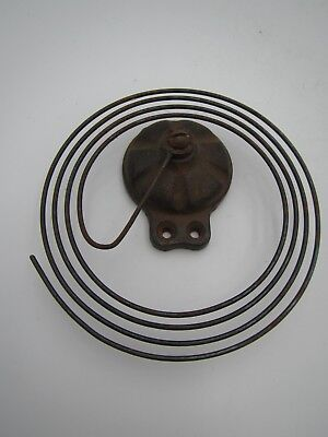 """Antique Clock Coil Gong Bell Wire Chime Round Block - Spring 4.5"""""""