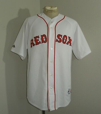 Mens Majestic Boston RED SOX KEITH FOULKE #29 SEWN MLB USA MADE Jersey Large