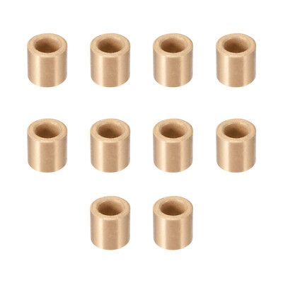 Self-Lubricating Bearing Sleeve, 6mm x 10mm x 10mm Sintered Bronze Bushing 10pcs