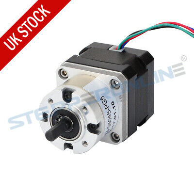 Nema 17 Geared Stepper Motor Gear Ratio 5:1 Extruder Motor 0.4A for CNC Robot