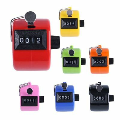 USA 4 Digit LCD Mechanical Hand Tally Number Counter Clicker Counting Manual