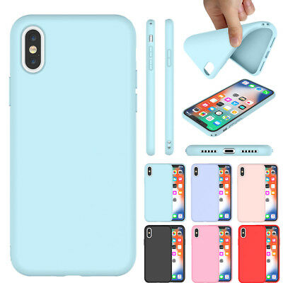 Luxury Original Soft Silicone Case For iPhone XS Max XS X Shockproof Slim Cover