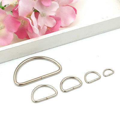 2/5/10/20PCS Silver Metal D Ring Webbing Hand Bags Buckles Strapping Belts DIY