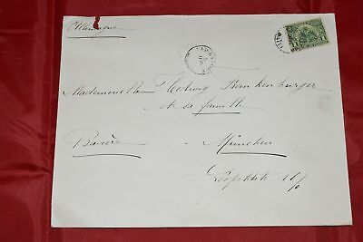 Haiti to Germany 1900s Single Franked Cover Scott 125 Tears along otp